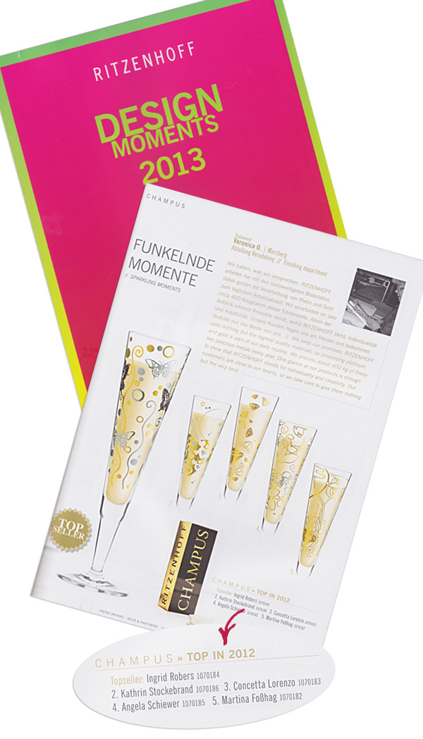 SCHIEWER DESIGN für Ritzenhoff - Topseller 2012