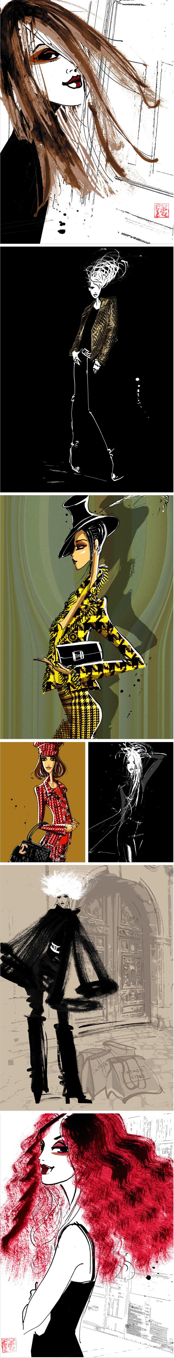 Margarete Gockels Mode Illustrationen