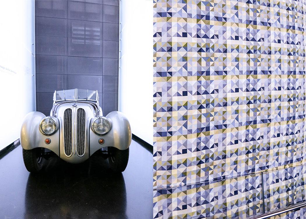 Interior Textilien im BMW Museum