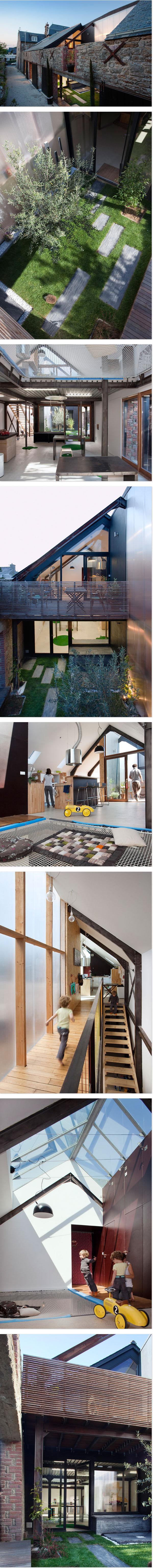 Haus in der Bretagne: Entres les Murs von Atelier 48.2