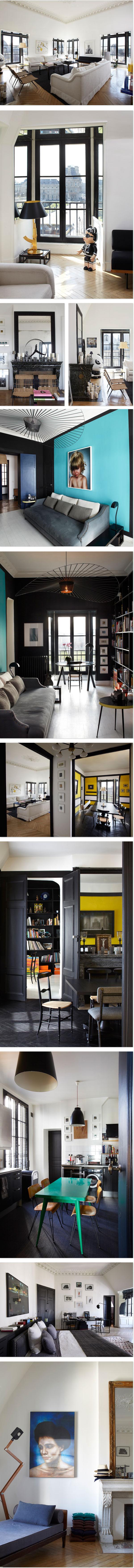 Ein farbenfrohes Apartment in Paris