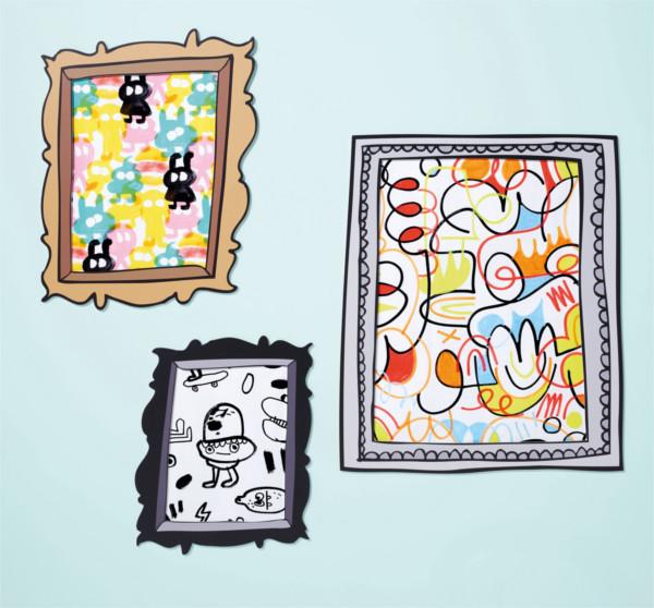 Doodle Kunst fürs Interior