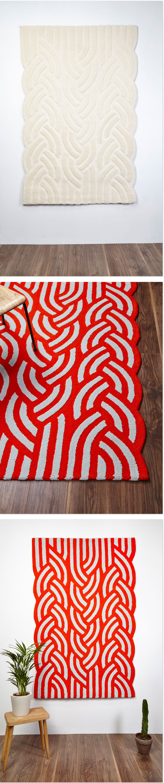 Teppich TÉADRA von Textildesignerin Claire-Anne O'Brian